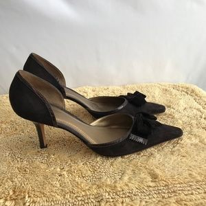 Ann Taylor Black Heels & Bow